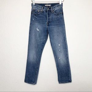 Levi's | Wedgie Straight Distressed Jeans Size 24